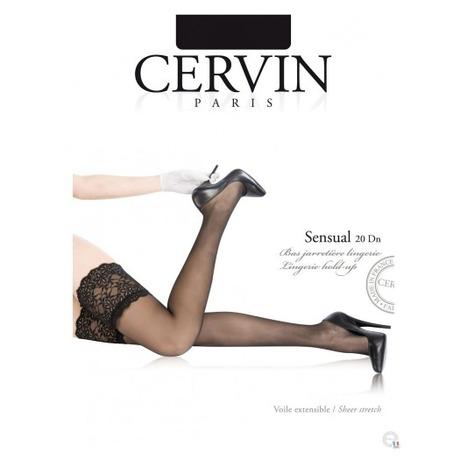 CERVIN Bas autofixant 20 deniers Sensual Luxe Noir