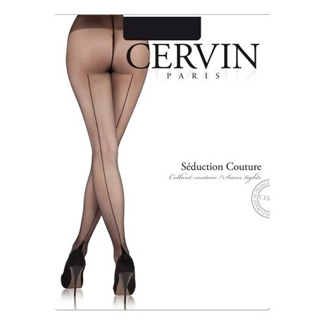 CERVIN Collant couture 15 deniers Séduction Couture Noir