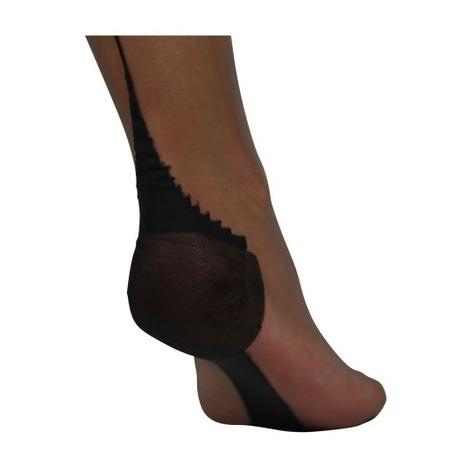 CERVIN Bas nylon couture 15 deniers Séduction Couture Bicolore Gris Foncé/Noir