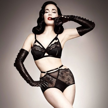 DITA VON TEESE Culotte haute Madame X Noir