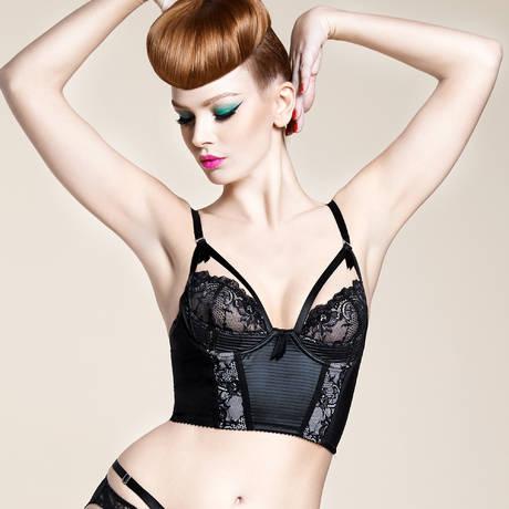 DITA VON TEESE Soutien-gorge bustier Madame X Noir