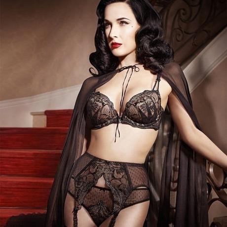 DITA VON TEESE Soutien-gorge push-up Countess Noir