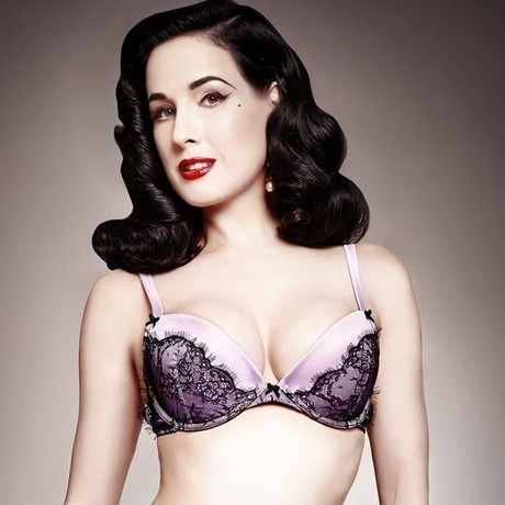 DITA VON TEESE Soutien-gorge push-up Man Catcher Lilas