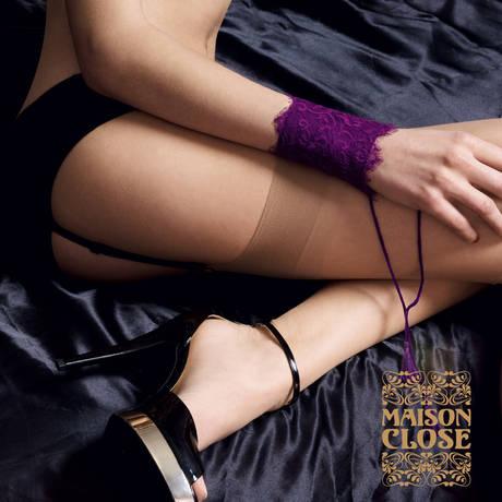 MAISON CLOSE Bas nylon 15 deniers Les Coquetteries Chair