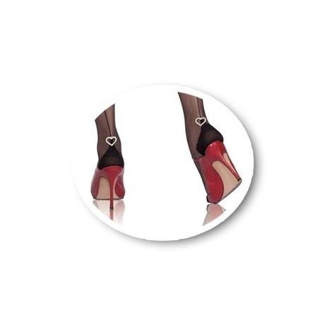 CERVIN Collant couture 15 deniers Séduction Couture Coeur