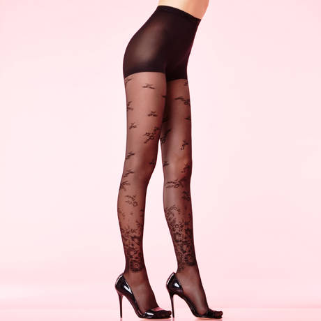 CHANTAL THOMASS Collant dentelle 30 deniers Les Bas et Collants Noir