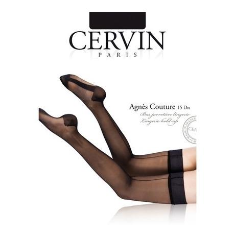 CERVIN Bas nylon autofixant 15 deniers Agnes Couture Noir