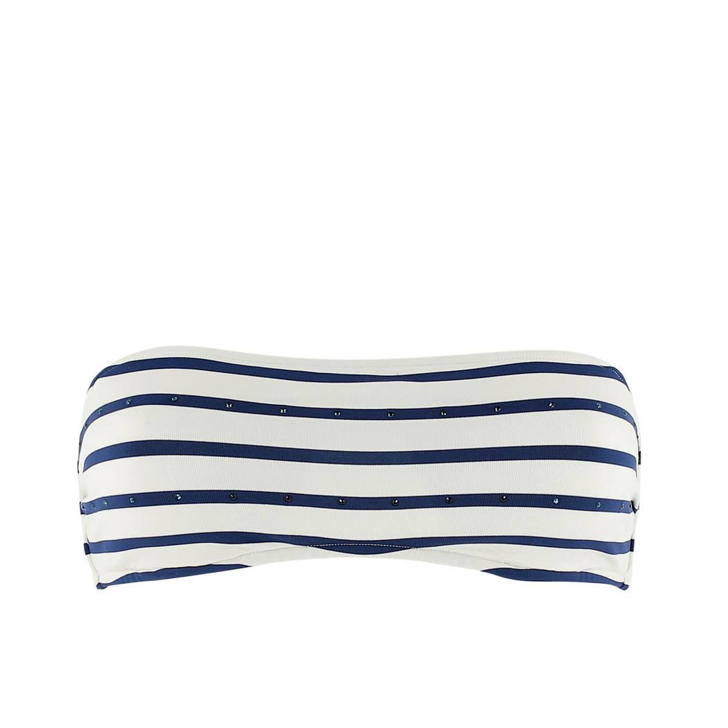 ANDRES SARDA Maillot de bain bandeau rembourré Twiggy Crème/Bleu