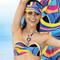 ANTIGEL Maillot de bain bandeau coques La Sporty Tropique Voile Tropique
