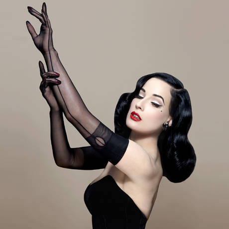 DITA VON TEESE Gants longs The Femme Totale Dita Von Teese Noir