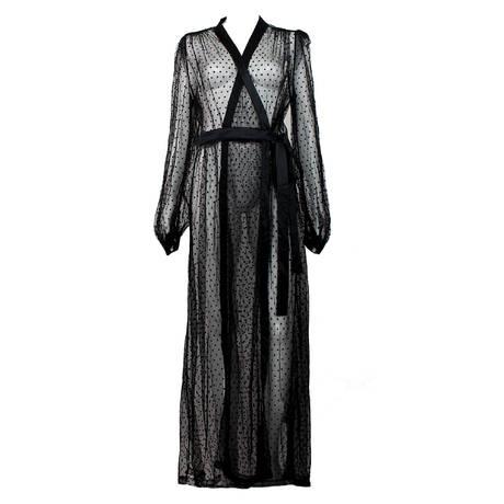 DITA VON TEESE Déshabillé The Lamarr Robe Noir