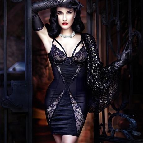 DITA VON TEESE Robe Madame X Noir