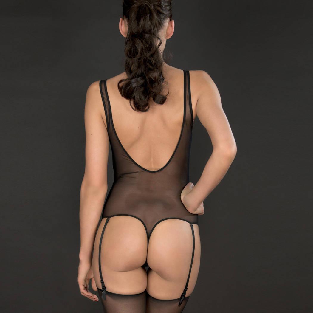 MAISON CLOSE Body string porte-jarretelles Pure Tentation Noir