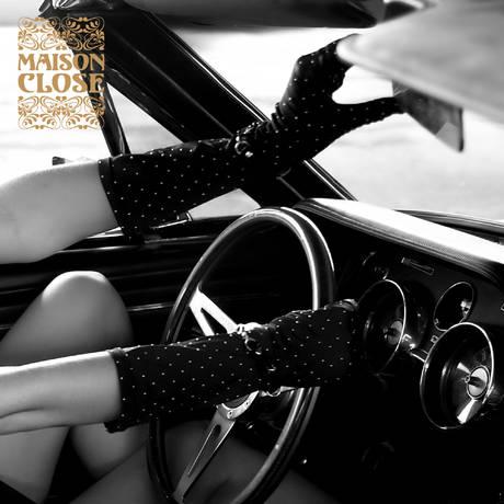 MAISON CLOSE Gant glamour Maison Close & pouet123 Noir