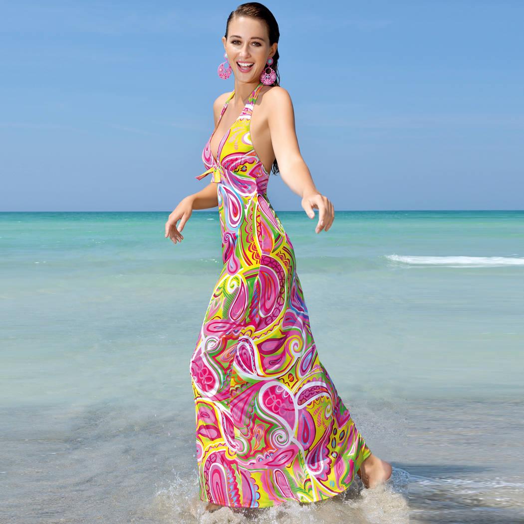 Provençale Vestido La de playa anticongelante largo lK1FTJc