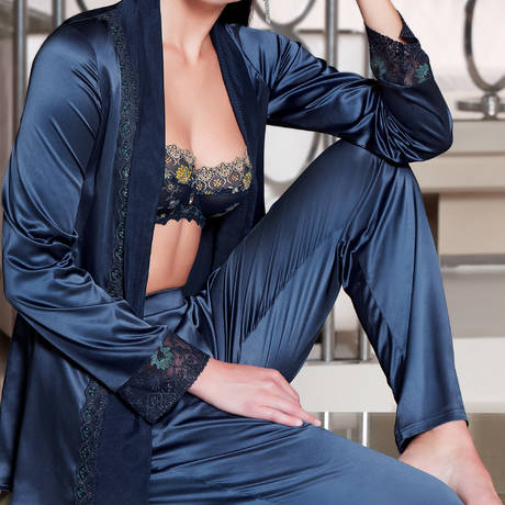 LISE CHARMEL Veste Emaux Graphic Emaux bleu