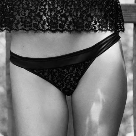 LES JUPONS DE TESS Culotte Astrid Noir/Beige