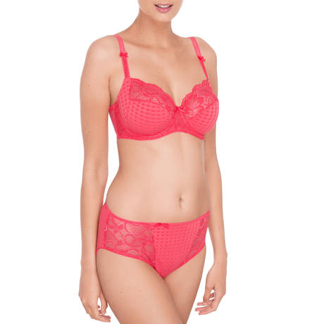 Soutien-gorge balconnet coutures horizontales Madison Candy Pink
