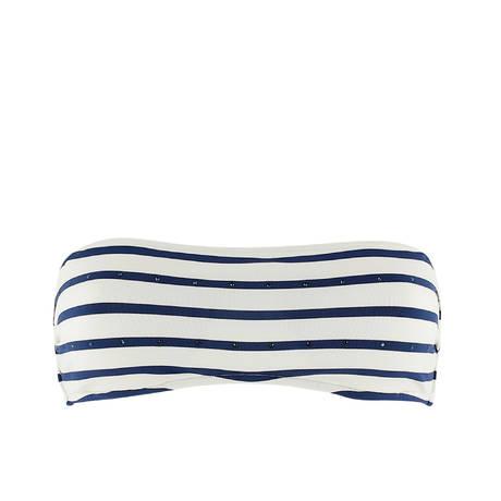 Maillot de bain bandeau rembourré Twiggy Crème/Bleu
