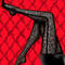 CHANTAL THOMASS Collant Smoking Lace noir