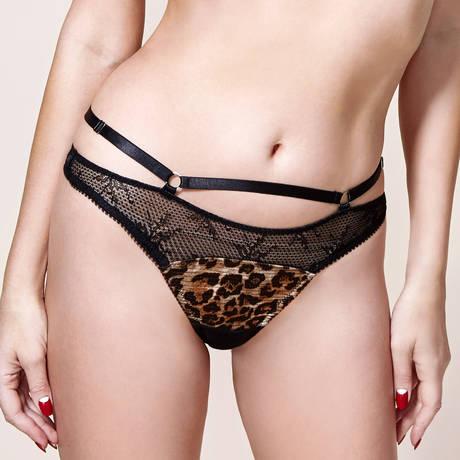 Slip Madame X Noir/Animal