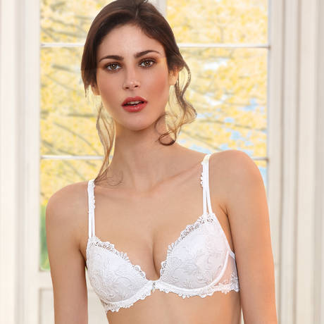 Soutien-gorge push-up Dressing Floral Blanc