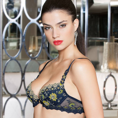 LISE CHARMEL Soutien-gorge push-up Emaux Graphic Emaux bleu