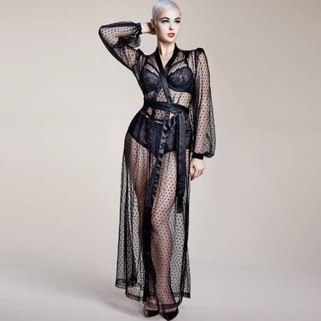 Déshabillé The Lamarr Robe Noir