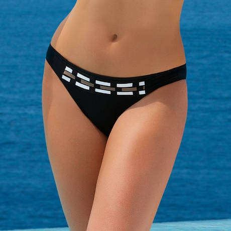Maillot de bain slip taille basse Transat Fashion Noir