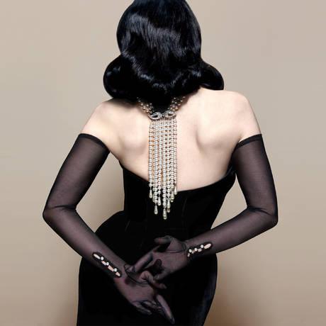 Gants longs The Valentina Les Gants Dita Von Teese Noir