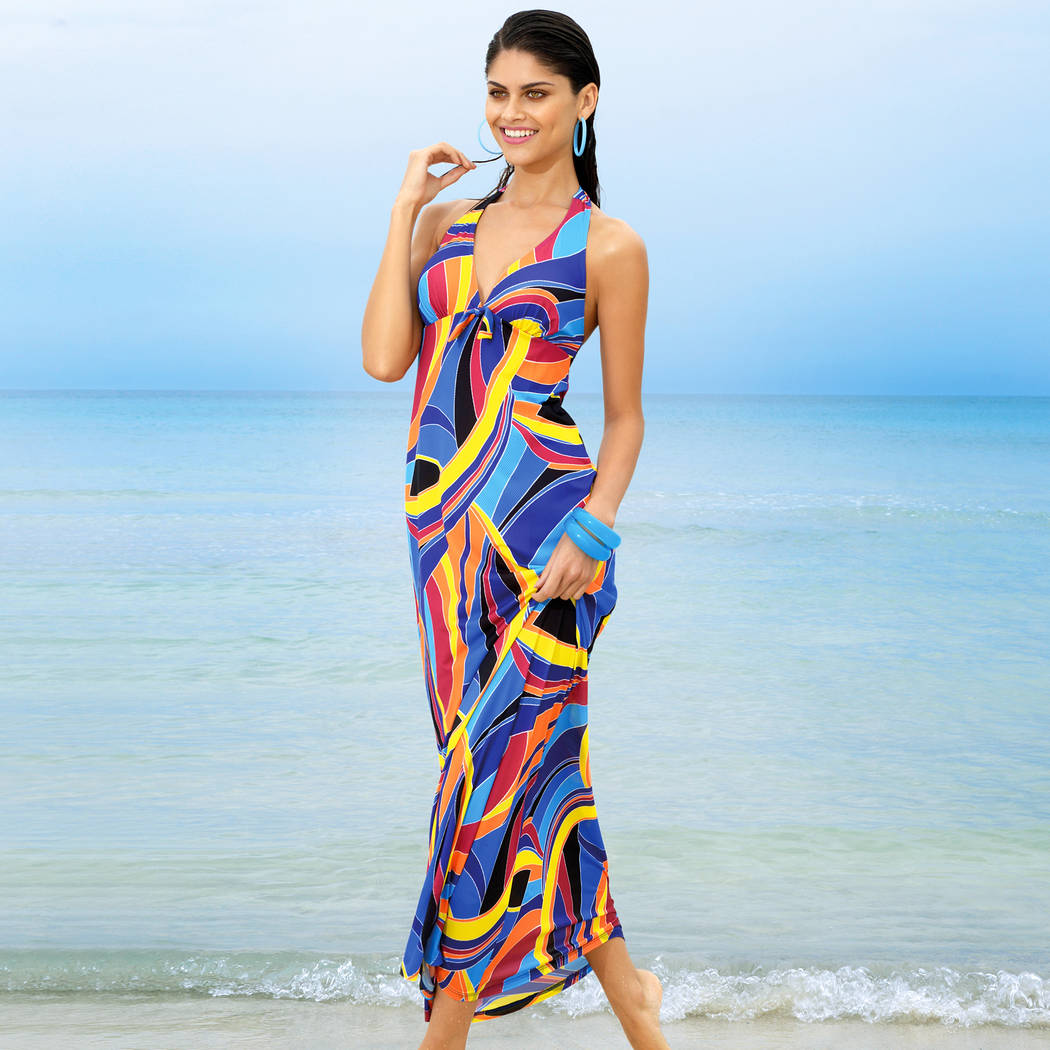 robe de plage longue antigel la sporty tropique. Black Bedroom Furniture Sets. Home Design Ideas