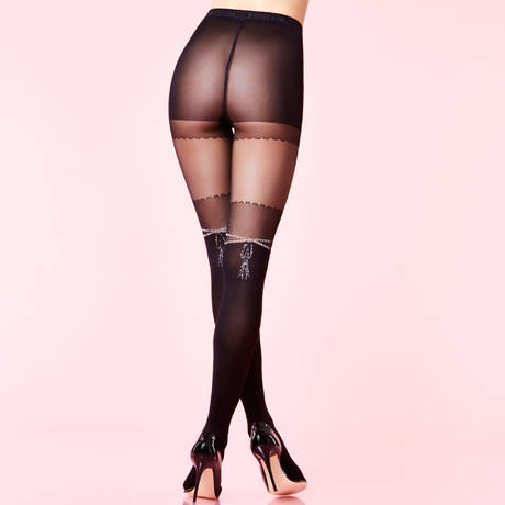 Collant Buckingham Palace Les Bas et Collants Noir/Argent