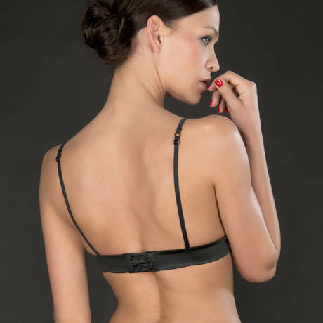 MAISON CLOSE Soutien-gorge triangle Cabaret Smoking Blanc/Noir