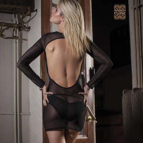 MAISON CLOSE Culotte demie nue Rue des Demoiselles Noir