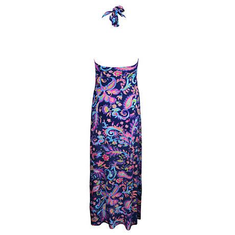 Robe longue La New Persane Bleu persan
