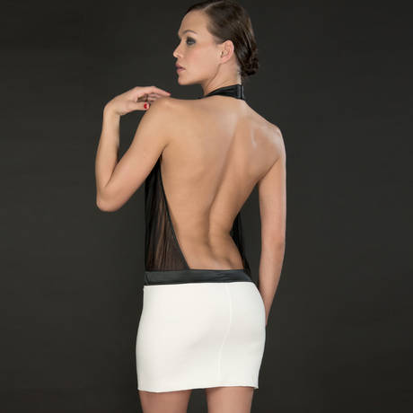 Robe Cabaret Smoking Blanc/Noir