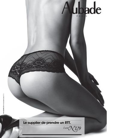 AUBADE Culotte Saint-Tropez Fleur d'Afrique Noir