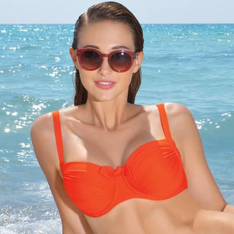 Maillot de bain coques grande taille L'Estivale Chic Orange