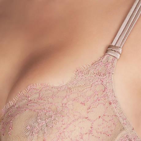 Soutien-gorge armatures emboîtant Shanghai Taupe/Rose