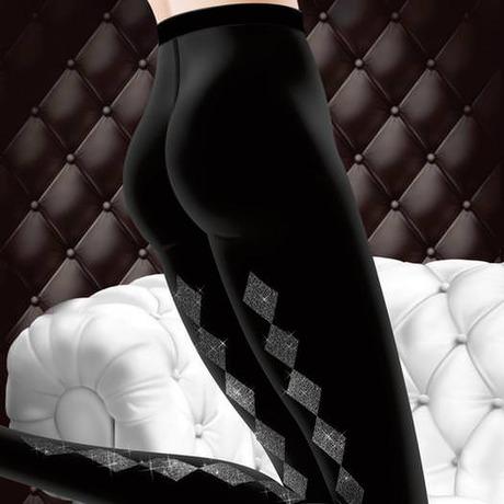 Collant Baguette Lurex Les Bas et Collants Noir/Argent