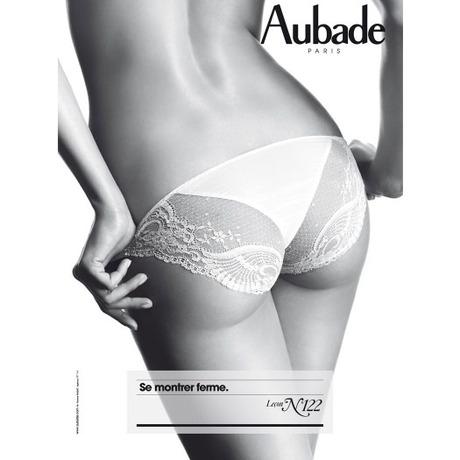 AUBADE Culotte Mini-Coeur L'Insoumise Blanc