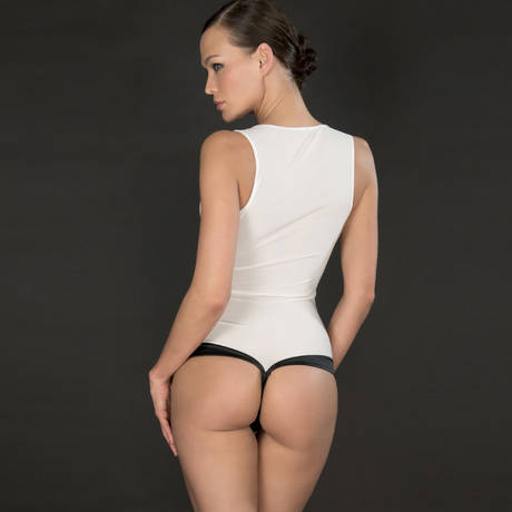 Body string Cabaret Smoking Blanc/Noir