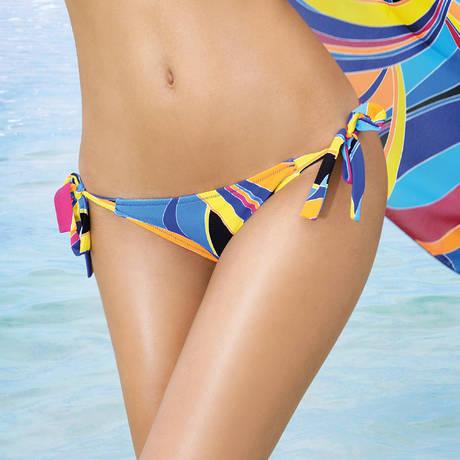 Maillot de bain slip lacets La Sporty Tropique Voile Tropique