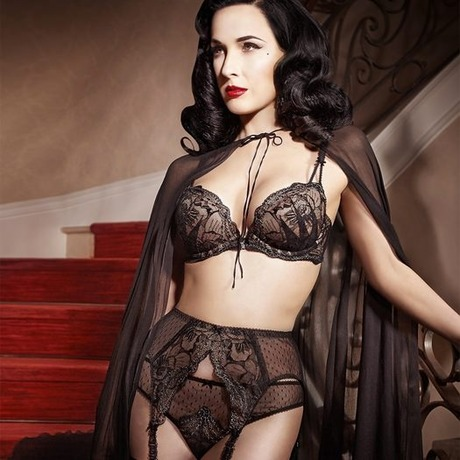 DITA VON TEESE Porte-jarretelles Countess Noir