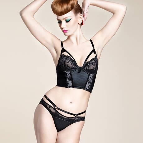 Soutien-gorge bustier Madame X Noir