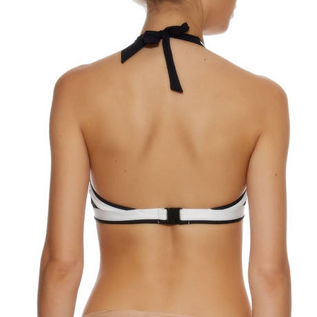 Maillot de bain triangle Sunset Stripes Noir