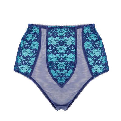 Culotte haute Sheer Witchery Bleu Bleu Marine/Turquoise