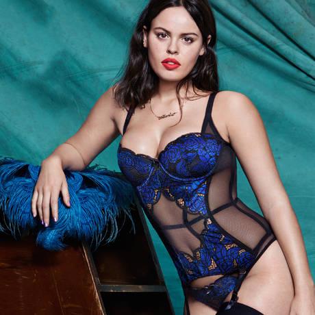 L'AGENT BY AGENT PROVOCATEUR Culotte Sylvana Noir/Bleu