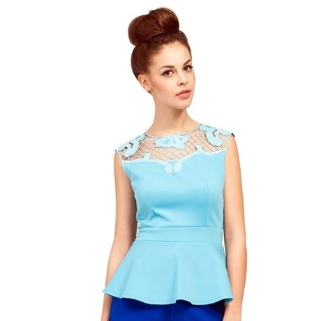 Top Lace Peplum