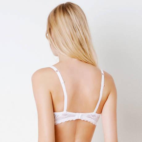 Soutien-gorge armatures Elégante Blanc